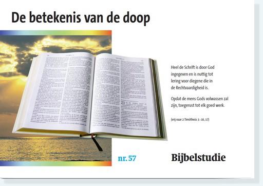 De Betekenis Van De Doop Bijbels Panorama